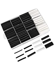 ANSNF 320pcs Heat Shrink Tubing Kit, UL Approved 3:1 Dual Wall Adhesive Heat Shrink Tube Wire Wrap Cable Sleeve Electric Insulation Tube Assortment with Storage Case, Black & White