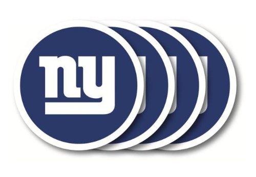 NFL New York Giants Vinyl Coaster Set (Pack of 4) ()