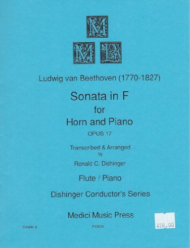 Sonata in F for Horn and Piano Op. 17 - Flute and Piano Beethoven / Dishinger FO634