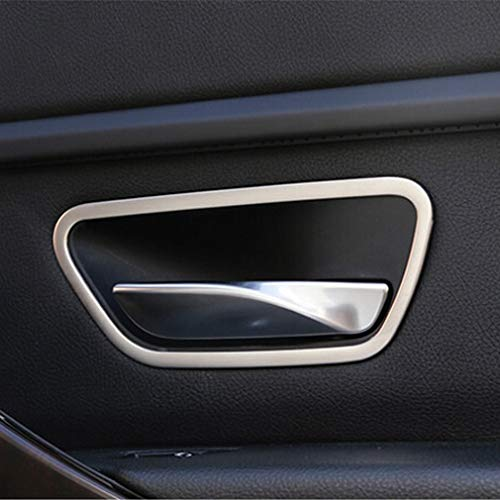 YUZHONGTIAN Stainless Steel Door Interior Handle Bowl Cover Trim for BMW 3 Series F30 316i 320i 328i 2013-2015