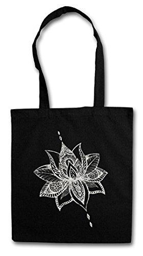 TATTOO FLOWER Hipster Bag Beutel Stofftasche Einkaufstasche