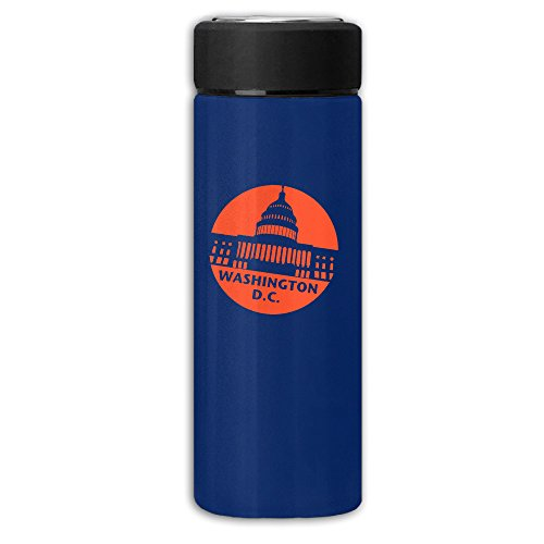 Washington D.C. Vacuum Cup Stainless Steel Frosted Travel Mug With Tea Leaf Filter,Commercial Insulation (Washington Redskins Stainless Steel Flask)