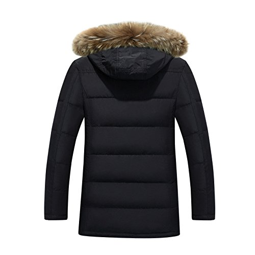 down Men's and winter Coat jacket jacket the warm of The length Down Men's down jacket men's Buggy Black stylish w7qHExIZtH
