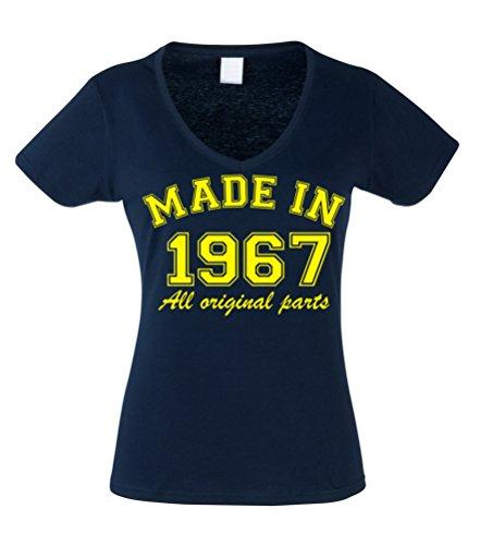 Camiseta ajustada con cuello en V para mujer de 50 ...