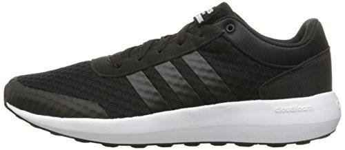 Adidas NEO Men's Cloudfoam Race Running Shoe, Black/Black/White, 11 M US