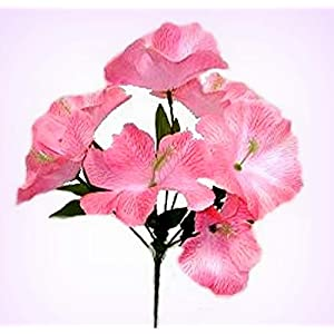 Inna-Wholesale Art Crafts New 5 Hibiscus Pink Silk Decorating Flowers Bridal Bouquets Centerpieces Decoration - Perfect for Any Wedding, Special Occasion or Home Office D?cor 77
