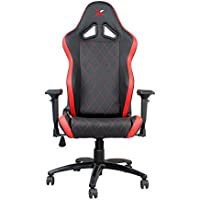 Ferrino Line Red on Black Diamond Patterned Gaming and Lifestyle Chair by RapidX