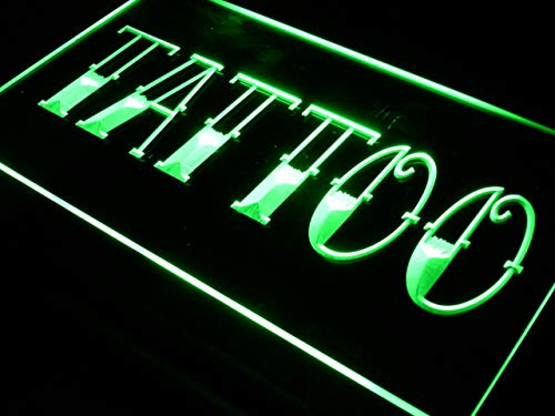 ADVPRO Cartel Luminoso i550-g Tattoo Shop Bar Pub Art ...