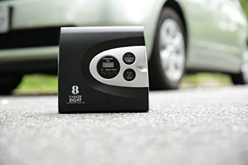 Auto-Digital-Tire-Inflator-from-Parker-8--Electric-12v-DC-Portable-Air-Compressor-Pump-Automobile-Tires-up-to-150-Psi-Always-be-Prepared-w-Easy-Storage-in-Car-Bright-Easy-to-Read-LED-Display