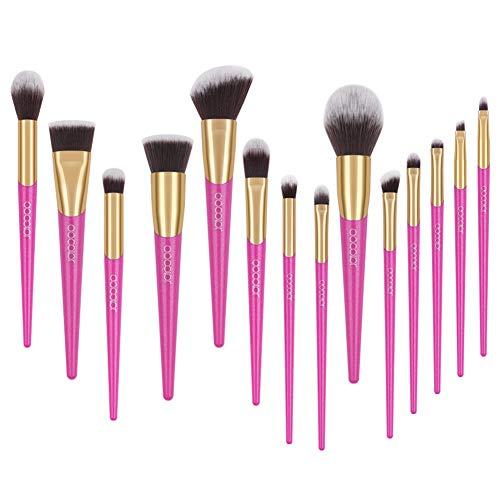 Docolor Makeup Brushes 14Pcs V-style Makeup Brushes Set Foundation Blending Eyeshadow Brushes Kit
