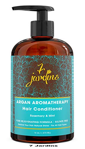 Premium Argan Aromatherapy Hair Conditioner -16 oz - Best Botanical Treatment For Damaged & Dry Hair With Natural Therapeutic Essential Oils - Sulfate Free, Paraben Free For All Hair Types-7 -
