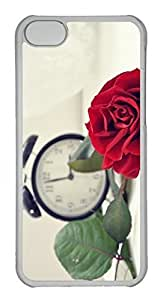 Customized Case For Ipod Touch 4 Cover PC Transparent CaRed Rose Cover