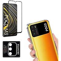 Capinha Antiqueda Reforçada + Película 3D/9D Nano Blindada + Película Câmera Compatível Xiaomi Poco M3