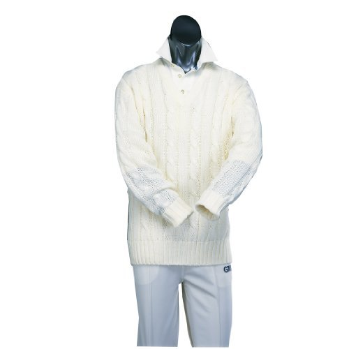 GM Cricket Cable Sweater Cream Xx-Large by GM by General Motors