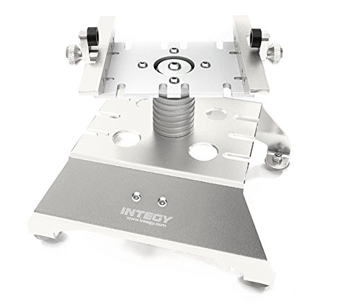 Integy RC Model Hop-ups C27651SILVER Alloy Car Stand Workstation for Axial 1/10 SCX-10, RR10 Bomber & (Car Hop Stand)