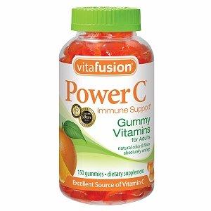 Vitafusion Puissance C, Soutien immunitaire, Gummy vitamines pour adultes, Absolument orange 150 ch