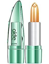 Jelly Lipstick for Women, Iuhan Organic Aloe Vera Jelly Lipstick Change Color Temperature Moistourizing Lipstick Lip Gloss (D)