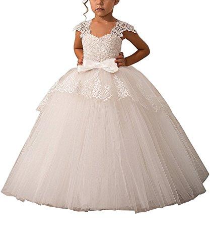 mesh applique dress - 8