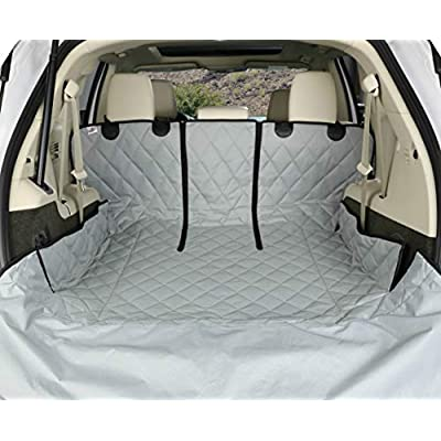 4Knines SUV Cargo Liner for Fold Down Seats - 60/40 Split and Armrest Pass-Through Compatible - USA Based Company (Large, Grey): Automotive