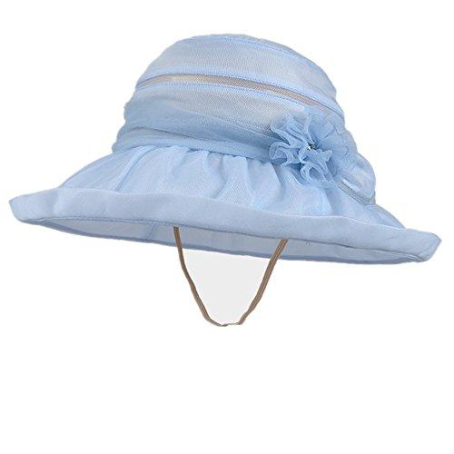 Silk Baseball Cap (KiKi Monkey Women Elegant Visor 100% Silk Baseball Cap Anti-UV Sun Protection Sun Hat (blue))