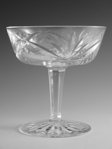 Waterford Crystal ASHLING Champagne Saucer Glass