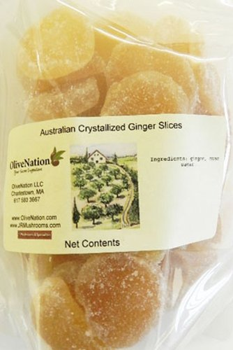 Australian Crystallized Ginger 1 lb. (16 oz.) - Soft & Chewy Ginger Candy by OliveNation