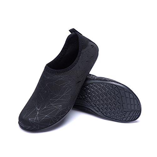Zapatos de Zapatos Xzx Unisex LK LEKUNI de Respirable Playa de Rápido Agua Color schwarz Piscina Secado Natación Agua Calzado Soles de de E8qZ8