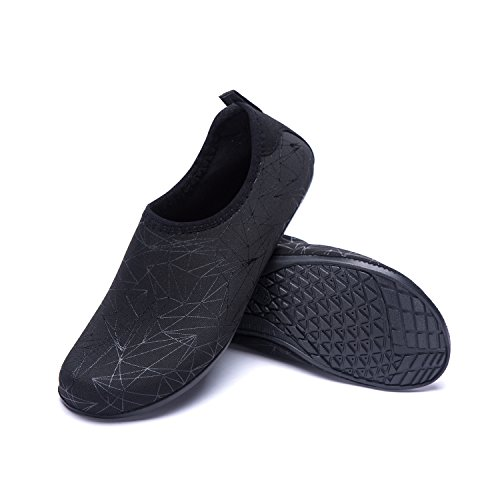 de Rápido Piscina Zx Zapatos Natación LEKUNI Agua de Calzado Playa de Unisex Soles black LK Respirable Zapatos Color Secado de de Agua vRqZSOW