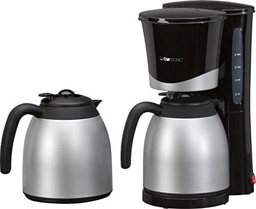 Cafetera con termo (2 unidades, 1 litro, indicador de nivel de ...