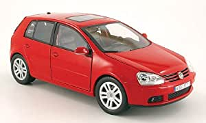 VW Golf V, rojo, Modelo de Auto, modello completo, Bburago 1:18