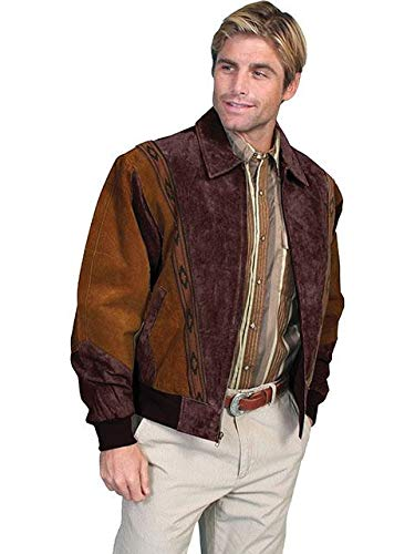 (Two-Toned Boar Suede Rodeo Jacket - M, Cafe)