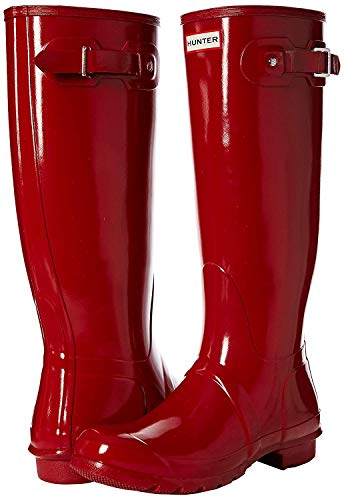 Shoe Womens Gloss Red (Hunter Women's Original Tall Snow Boot (8 M US, Red/Gloss))