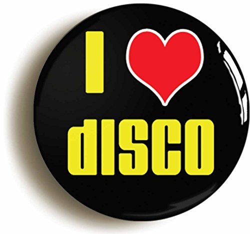 [I Heart Love Disco Seventies Button Pin (Size Is 1inch Diameter) 70s Costume Party] (70s Disco Costumes Ideas)