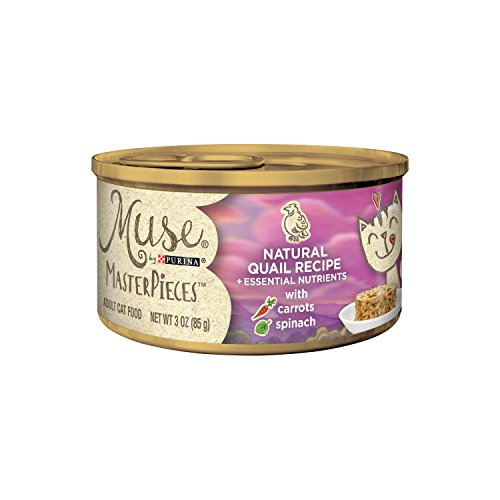 Cheap Muse By Purina Masterpieces Natural Quail Recipe With Carrots & Spinach Adult Wet Cat Food – (24) 3 Oz. Cans