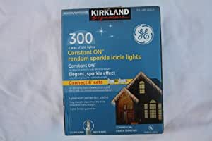GE 300 Constant ON Random Sparkle Icicle Lights