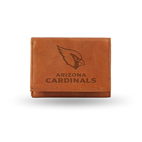 s Embossed Genuine Cowhide Leather Trifold Leather Wallet (Arizona Credit Card)