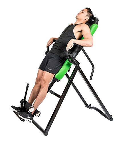 Body Xtreme Fitness Inversion Table, Advanced Heat and Massage Therapeutic Inversion Table, Comfort Foam Backrest, Back Fitness Therapy Relief + BONUS Cooling Towel by Body Xtreme Fitness USA (Image #1)