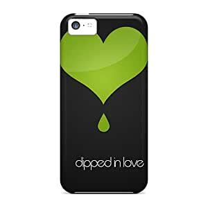 BeautyEmotion Iphone 5c Hybrid Tpu Case Cover Silicon Bumper Dipped In Love