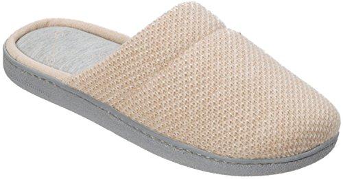 Scuff Slippers Oatmeal Beige Womens Knit Texture Dearfoams qtg0x