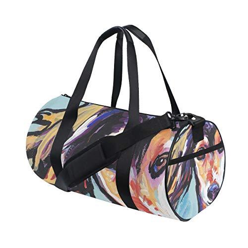 (Gym Duffel Bag Saluki Hound Training Duffle Bag BaLin Round Travel Sport Bags for Men Women)