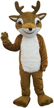 cosplaydiy Unisex cervatillo Ciervo mascota disfraz de reno Mascot ...