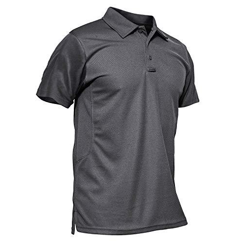 MAGCOMSEN Tactical Polo Shirt Men Short Sleeve Outdoor Polo Shirt Hiking Shirt Pique Polo Shirt for Men (Outdoor Polo)