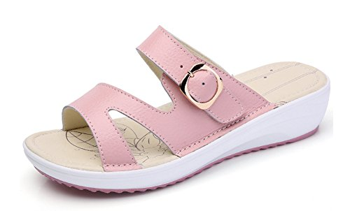 de Slip Mules Femme Plage Chaussure On Chic Easemax Rose wtvUxCw