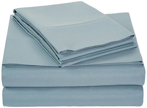 AmazonBasics Microfiber Sheet Set - Queen, Spa Blue