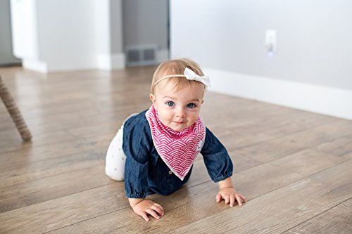 """Baby Bandana Drool Bibs for Drooling and Teething 4 Pack Gift Set For Girls """"Coco Set"""" by Copper Pearl"""