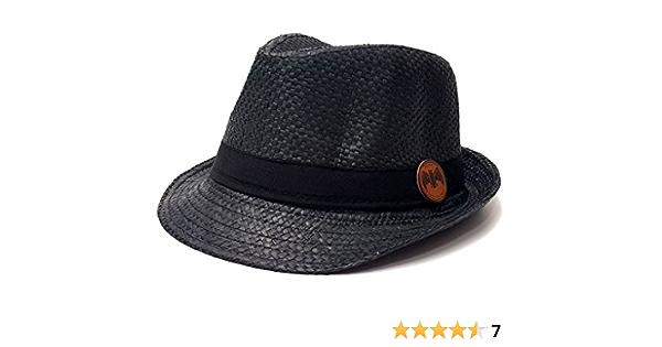 Sombrero de paja Bacardi, color negro
