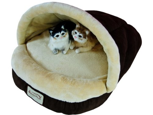 - Armarkat Slipper Shape Pet Bed, Mocha, C05HKF/MH