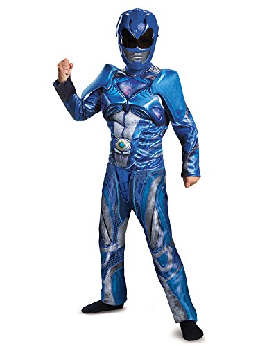 Disguise Ranger Movie Classic Muscle Costume, Blue, Medium (7-8) -
