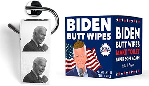 Joe Biden Toilet Paper - Funny Printed Loo Roll in Novelty Gift Box - Election Special Biden Butt Wipes