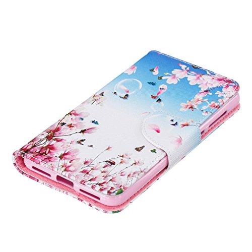 Trumpshop Smartphone Carcasa Funda Protección para Huawei Y5 II + Gatos + PU Cuero Caja Protector Billetera con Cierre magnético [No compatible con Y5] Jardín secreto
